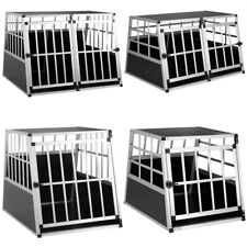 Cadoca Hundetransportbox Aluminium Hundebox Autotransportbox Hund Reisebox M-XXL