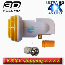 UNIVERSAL SINGLE LNB 0.1dB ULTRA HD 3D 4K SKY,FREESAT, CYFROWY + 1F-connector