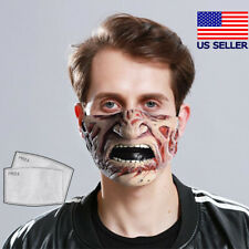 Freddy Krueger Face Mask Horror Fabric Reusable Washable (with Filter)