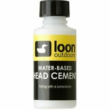 NEW LOON OUTDOORS FLY TYING WATER BASED HEAD CEMENT W/ APPLICATOR BRUSH 1 OUNCE