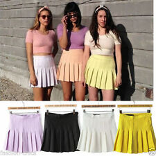 Machine Washable Mini Solid Skirts for Women