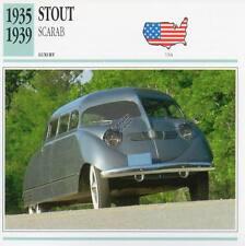 1935-1939 STOUT SCARAB Classic Car Photograph / Information Maxi Card