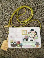 Disney Dooney & Bourke Epcot Flower Garden Minnie 2018 Figaro bag purse NWOT