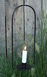 Black Metal Hanging Candle Holder Wedding Garden Decor - Vintage Style