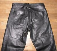 """lange """" POLO """" Herren-  LEDERJEANS / Biker- Lederhose in schwarz ca. W33"""" /L36"""""""