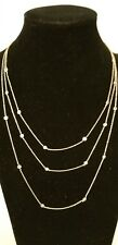 "TRIPLE STRAND YELLOW GOLD PLATED 4.5 CARAT TW 16"" TO 18"" CZ BY THE YARD NECKLACE"
