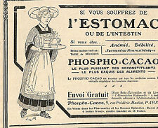 PARIS RUE FREDERIC BASTIAT PHOSPHO CACAO PUBLICITE 1910