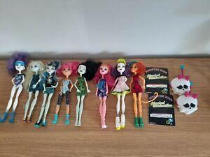 8 Monster High Dolls Bulk Lot