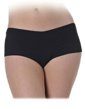 Black Low-Rise Stretch Spandex Boy Short Panty Underwear L