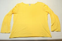 J. JILL 1X Perfect Pima Boat-Neck Tee Top Shirt 100% Cotton yellow