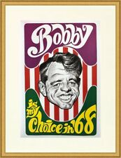 Bobby Kennedy Reproduction Presidential 1968 Campaign Poster Custom Framed