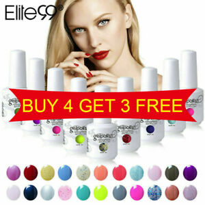 Elite99 UV Colour Gel Polish Nail Lacquer Manicure Top Base Coat 15ML Soak Off