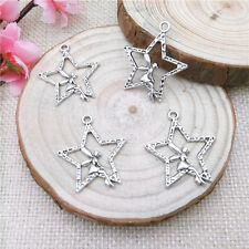 Wholesale 6Pcss Tibet Silver Star Fairy Charm Pendant Beaded Jewelry
