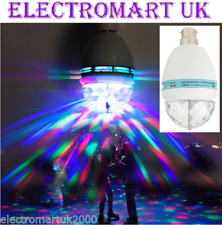 LED DISCO ROTATING LIGHT BALL BULB LAMP PARTY MULTI COLOURED EFFECT BC FITTING