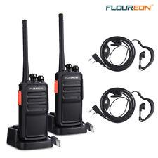 2x Handheld Walkie Talkies Set 12KM Long Range PMR 446MHZ Two-Way Radio Intercom
