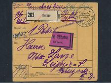 Dt. Reich Einschreiben Express Paketkarte Barfrankatur Thurnau 1923 (S12829)