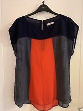 Ladies TU Red & Navy Sheer Top Size 12/14