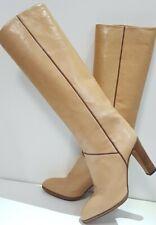SERGIO ROSSI Bottes 70s 70er Vintage Leder Stiefel Heels Boots 39,5 Langschaft
