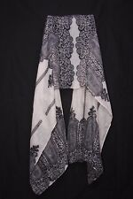 Washed Out Pink & Navy Lace Imitation Print For Vibrant Young Lady Scarf (S175B)