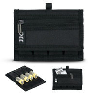 JJC 4 Slots 18650 Battery Pouch Case Bag Holder with Zipper Pocket for SD Card