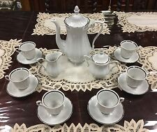 Vintage Walbrzych China Empire Demitasse Set Poland