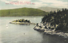 North Shore Marine Drive Garrow Bay VANCOUVER BC Canada 1920-40s Coast Postcard