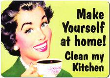 Make Yourself at Home retro fridge magnet.