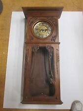 ANTIQUE GUSTAV BECKER DECORATED ART NOUVEAU REGULATOR WALL CLOCK CIRCA 1900