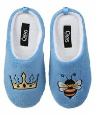 Circus x Sam Edelman Womens Size 5/6 Blue Queen Bee Jilly Slippers Slip On
