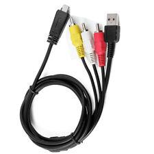 USB Data SYNC+AV A/V TV Cable Cord For Sony CyberShot camera DSC-HX100 V HX100B