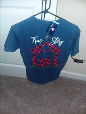 NWT Simply Southern Short Sleeve T Shirt Womens TRUE STORY PLAID CHRISTMAS SMALL