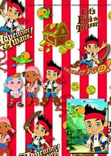 2 SHEETS 2 TAGS DISNEY JAKE NEVERLAND PIRATES PRESENT GIFT WRAPPING PAPER
