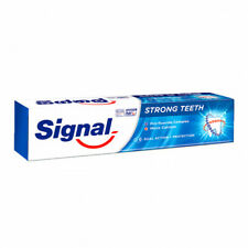 Signal Strong Teeth Toothpaste Herbal Whitening Clean 100% Pure Organic 40g