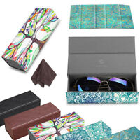 Fintie Foldable Rectangle Magnetic Hard Sunglasses Eyeglasses Leather Case Cover