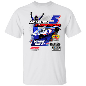 Men's Kyle Larson Checkered Flag Che-vrolet Motorsport Collection T-Shirt S-5XL