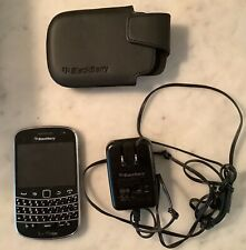 BlackBerry Bold 9900 Black Qwerty Touch Smartphone Circa 2010 with black case
