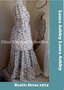 Laura Ashley white bustle dress - Ditsy Vintage Victoriana 8 10 12