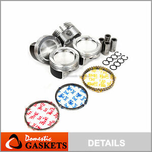 Pistons and Rings 19mm Wrist Pin fit Volkswagen Beetle Goft Jetta 2.0L 8V