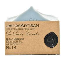 Jacqsartisan Natural Vegan Tea Tree & Lavender Antibacterial Soap Bar 120g UK