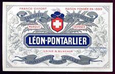 étiquette France-Export ANIS ABSINTHE LEON-PONTARLIER  près Couvet ( Suisse )