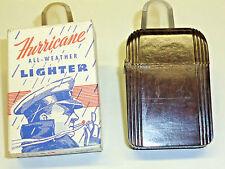 HURRICANE BAKELITE WINDPROOF ALL WEATHER POCKET LIGHTER - OVP - 1939 - U.S.A.