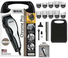 Wahl Chrome Pro Corded Men Hair Clippers Complete Home Barber HairCutting Kit