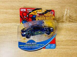 Green Goblin Acura Honda 2002 RSX Integra Type S Maisto Pullback Car Spider-Man