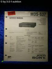 Sony Service Manual MDS S37 (#1193)