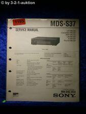 Sony Service Manual MDS S37 (#1193)