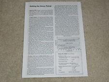 Denon DL-103d Cartridge Review, 1 pg, 1978, Specs, Full Test, Info