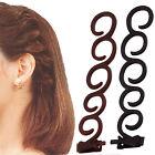 2x Women Fashion Accessories Hair Styling Clip Stick Bun Maker Braid Tool Hair