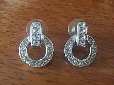 100% Authentic Christian Dior Earrings w rhinestones