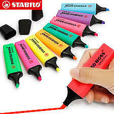 Stabilo Boss Original Colourful Highlighter And Text Marker Pen (9 Colors)