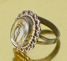 Sterling Silver Ring Vintage Mexican Abalone